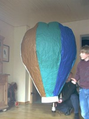 Heissluftballon zum Selberbauen